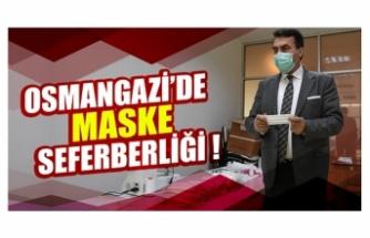 Bursa Osmangazi'de maske seferberliği