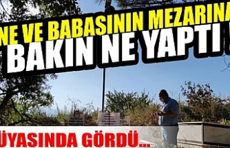 Bursa'da anne ve babasının mezarına bakın ne yaptı !