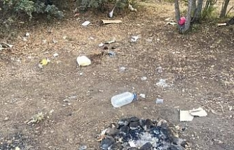 Çiçekdağı ilçesinde piknik alanları, duyarsız insanlar nedeniyle çöp  alanlarına  dönüştü