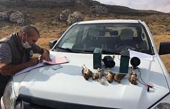Karaman'da kaçak avlananlara 30 bin 667 lira ceza