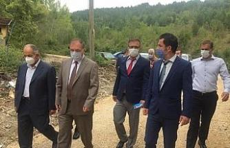 Kaymakam Türköz Ovacuma Köyü ve civarında incelemelerde bulundu