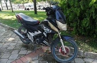 Manisa'da plakasız motosiklet çalıntı çıktı