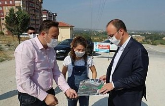 Pınarkent'te beton kilit parke döşeme çalışmaları başladı