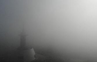 Bolu kent merkezi sisle kaplandı