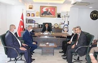 CHP'li milletvekilleri, Cizre TSO Başkanı Sevinç ile görüştü