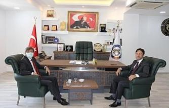 Cizre TSO Başkanı Sevinç, İpekyolu Gümrük ve Dış Ticaret Bölge Müdürü Kök ile görüştü