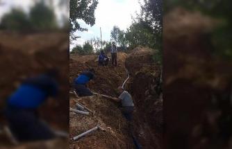 Dereşemsettin Köyü içme suyu isale hattı onarılarak yenilendi