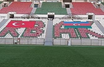 Diyarbekirspor'dan Azerbaycan'a bayraklı destek