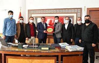 Esnaflarından Başkan Gürkan'a teşekkür ziyareti