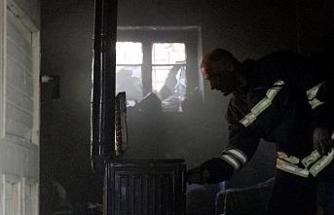 Gümüşhane'de Afgan mültecilerin kaldığı evde yangın
