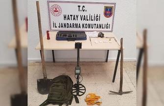 Hatay'da kaçak kazı yapan 4 kişi yakalandı