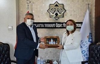 MTSO Başkanı Sadıkoğlu'ndan Rektör Karabulut'a ziyaret