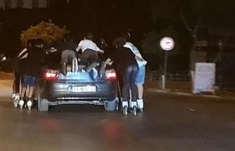 Ne koronayı ne trafiği umursamadılar
