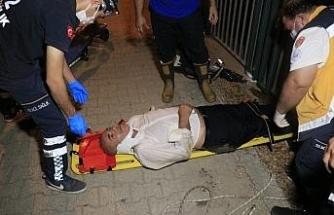 Sulama kanalına düşen şahsın yardımına polis ve itfaiye yetişti