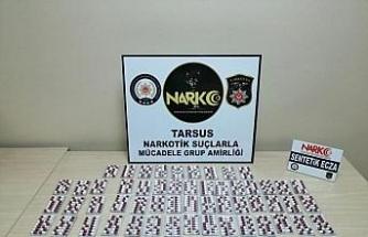 Tarsus'taki uyuşturucu operasyonunda yakalanan 2 kişi tutuklandı