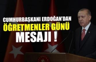 Başkan Erdoğan'dan Öğretmenler Günü mesajı.