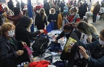Edirne'de, Bulgar turistlerin alışveriş yaptığı pazar kapatıldı