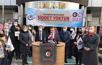 HAK-İŞ, Kadına Karşı Şiddetle Mücadele Günü'nü unutmadı