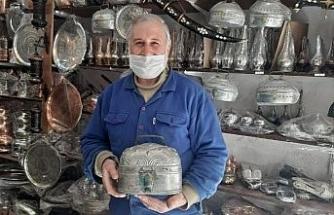 Mardin'de yapılış sırrı çözülemeyen bakır sabunluk bin 500 liraya satışa çıkarıldı