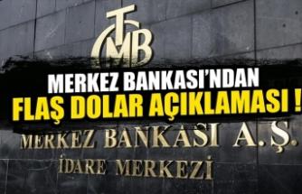 Merkez Bankası'ndan dolar açıklaması! Zamanla azalacak