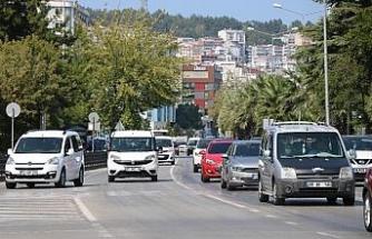 Samsun'da motorlu kara taşıt sayısı bir yılda 17 bin 571 adet arttı