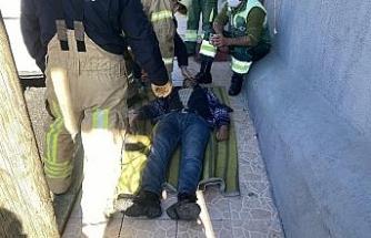 Sarıyer'de dehşet anları kamerada: Freni boşalan taksi eve girdi