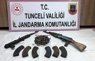 Tunceli'de 1 sığınak imha edildi, silahlar ve mühimmat ele geçirildi