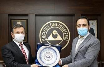 TÜSEB Başkanı Prof. Dr. Erhan Akdoğan, ERÜ'yü Ziyaret Etti
