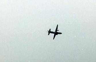 3 kayıp mürettebat için uçak ve helikopter havalandı