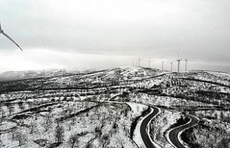 Aydın'da dağlar beyaza boyandı