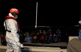 Ayvalık'ta 38 göçmen kurtarıldı