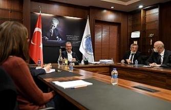 Başkan Seçer; AFD, AB Delegasyonu ve İller Bankası yetkilileri ile bir araya geldi