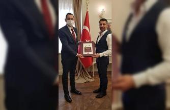 BİK Şube Müdürü Aşkın'dan Sivrihisar Belediye Başkanı Yüzügüllü'ye ziyaret