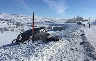 Bu kazada sürücüler yara almadan kurtuldu