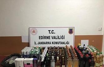 Edirne'de 155 litre kaçak alkol ele geçirildi