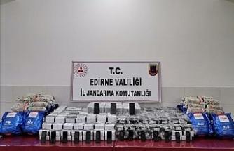 Edirne'de 450 bin TL'lik kaçak cep telefonu ve domuz eti ele geçirildi