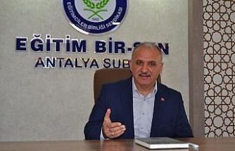 Eğitim Bir-Sen Antalya Şube Başkanı Miran: '400 lira seyyanen zam istiyoruz'