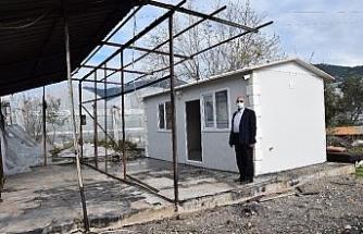 Evi yanan Nadiye teyzeye konteyner ev