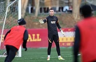 Galatasaray'da Muslera ve Feghouli, takımla birlikte çalıştı