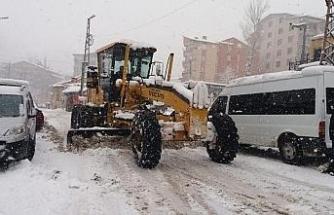 Hakkari Belediyesinden karla mücadele çalışması
