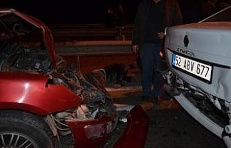 Ordu'da zincirleme kaza: 1'i ağır 4 yaralı