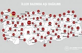 """Sağlık Bakanı Koca: """"Türkiye'de iller bazında aşı dağılımını görebilirsiniz"""""""