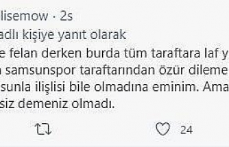 Samsunspor Başkanı Yıldırım ile taraftar arasında polemik