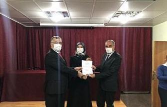 Saray ilçesindeki 45 okula 'okulum temiz' belgesi verildi