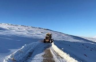 Van Büyükşehir Belediyesi kırsalda karla mücadelesini sürdürüyor