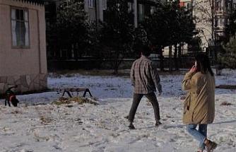 Van'da kar yağışı kartpostallık görüntüler oluşturdu
