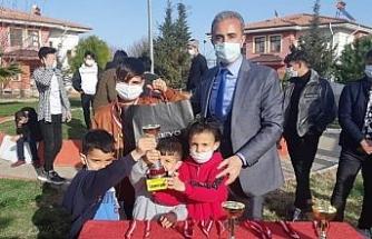 Bakım altındaki çocuklar turnuvaya katıldı