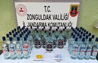 Ehliyeti ve basın kartlı sahte olan şahıs 80 litre alkolle yakalandı