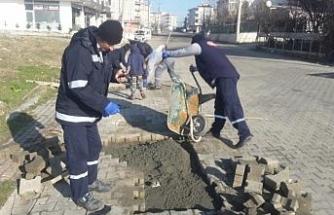 Ergene'de yol ve kaldırım çalışmaları devam ediyor