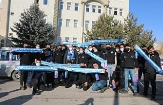 Erzurumsporlu taraftarlardan Başkan Orhan'a teşekkür ziyareti